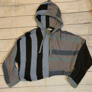 American Eagle Mix Stitch Hooded Sweater